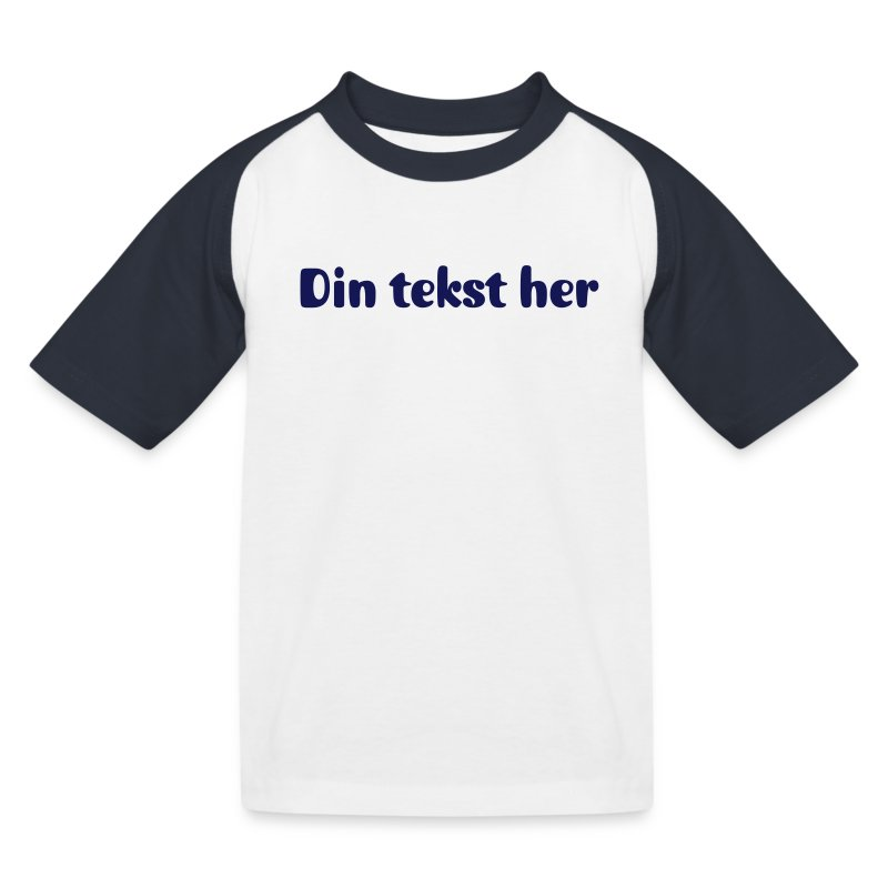 Kortermet baseballskjorte for barn - m/ egen tekst - Baseball-T-skjorte for barn