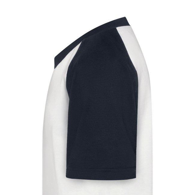 Kortermet baseballskjorte for barn - m/ egen tekst