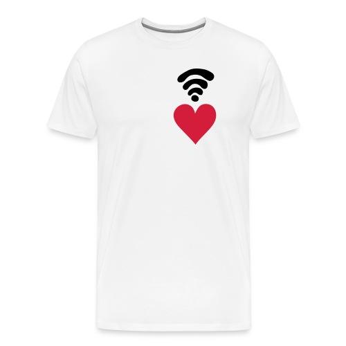 Wi fi love - Maglietta Premium da uomo
