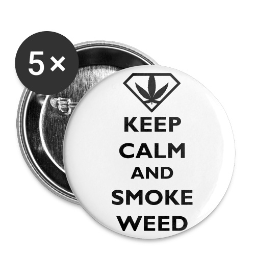 Smoke Weed Button - Buttons groß 56 mm