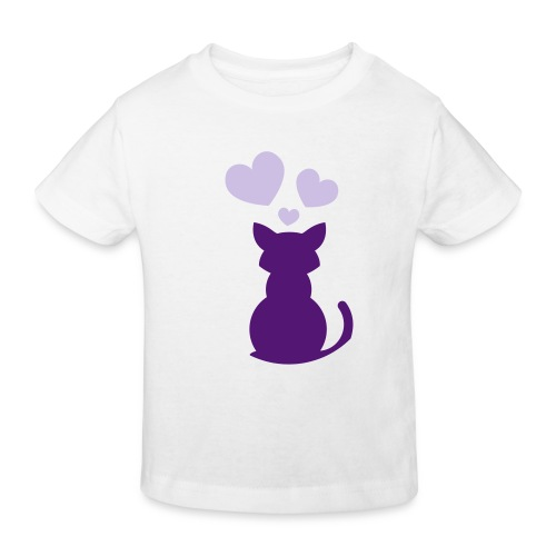 kitty love - Kids' Organic T-Shirt