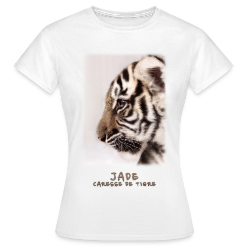 T-Shirt Femme Jade bébé profil - T-shirt Femme