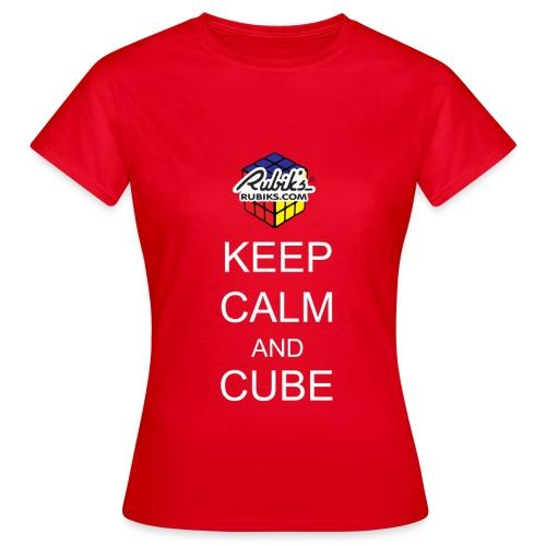 Keep Calm - T-skjorte for kvinner
