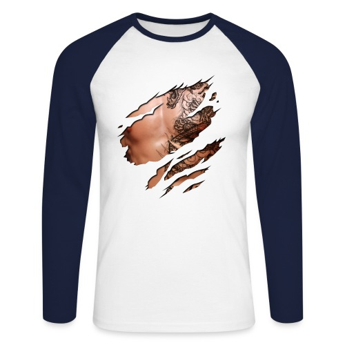 Maglietta da uomo MR Pettoralman! - Maglia da baseball a manica lunga da uomo