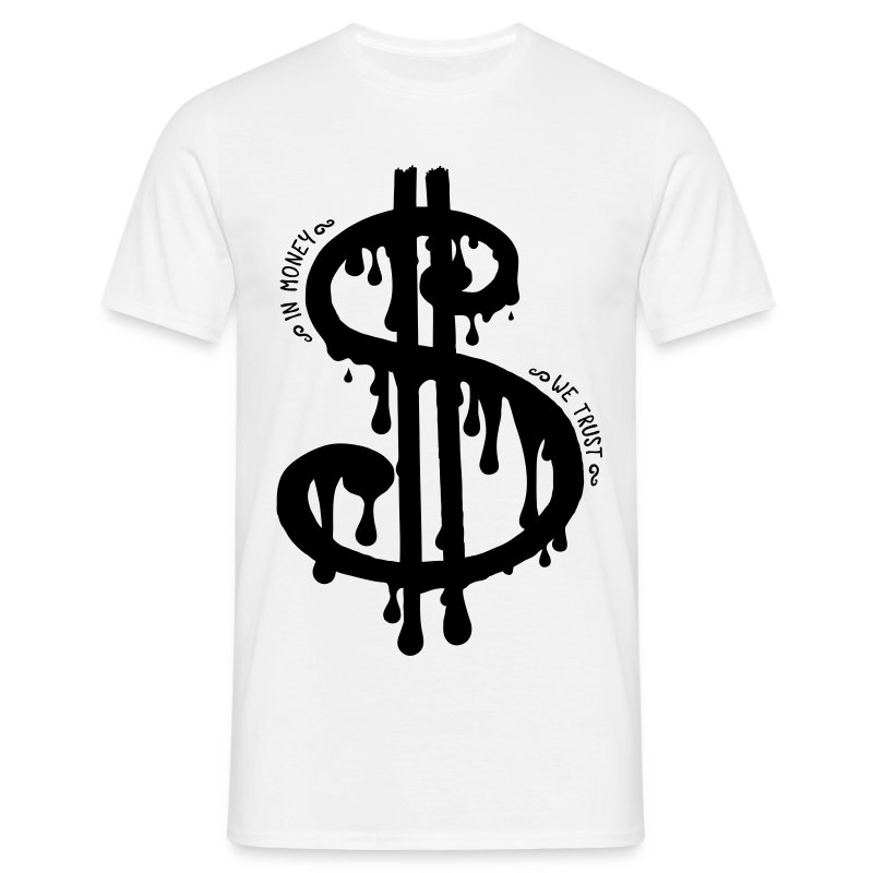 [Dollar Slave]blanc - Men's T-Shirt