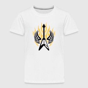guitar wing flame Shirts - Kids' Premium T-Shirt