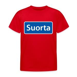 Suorta (Sortland) skilt - T-skjorte for barn
