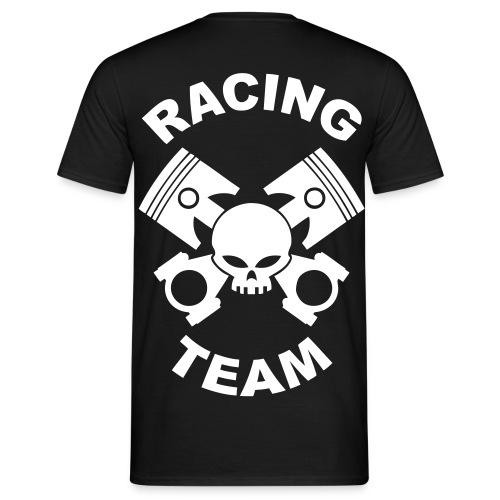 Pistons, rods and skull racing team - Men's T-Shirt