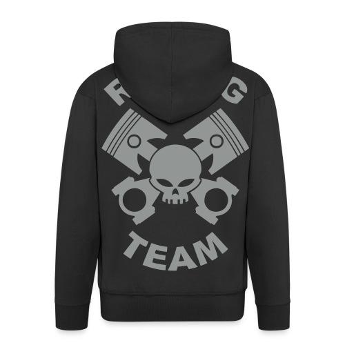 Pistons, rods and skull racing team - Men's Premium Hooded Jacket