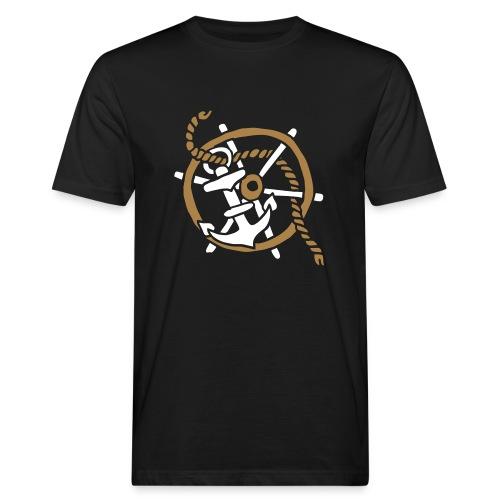 Anker Seemann Anchor Sailor Tattoo Oldschool SOS - Männer Bio-T-Shirt