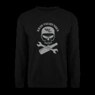Pullover & Hoodies ~ Männer Pullover ~ Pulli Männer - Totenkopf, Pulle & Schraubenschlüssel (grauer Aufdruck)