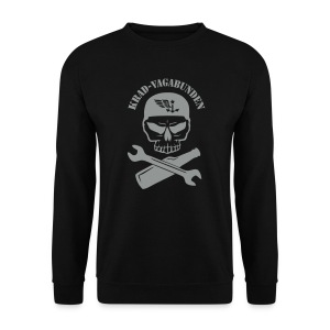 sweatshirt - men - wrench & bottle - red print - Men's Sweatshirt