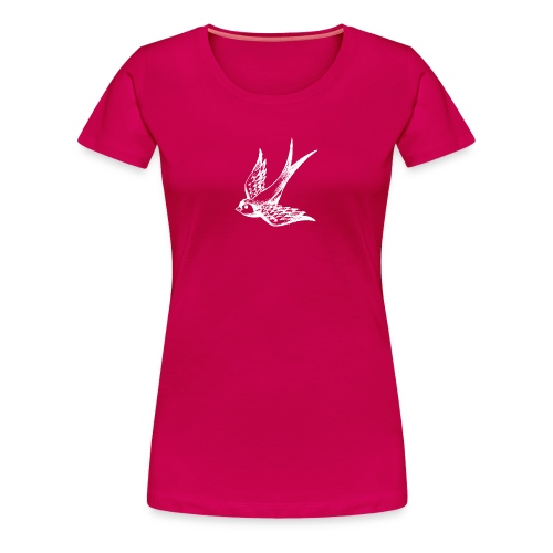 tier t-shirt schwalbe swallow vogel bird wings flügel retro - Frauen Premium T-Shirt