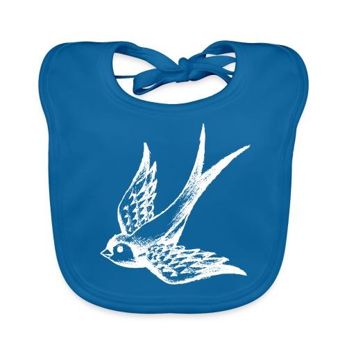 tier t-shirt schwalbe swallow vogel bird wings flügel retro - Baby Bio-Lätzchen