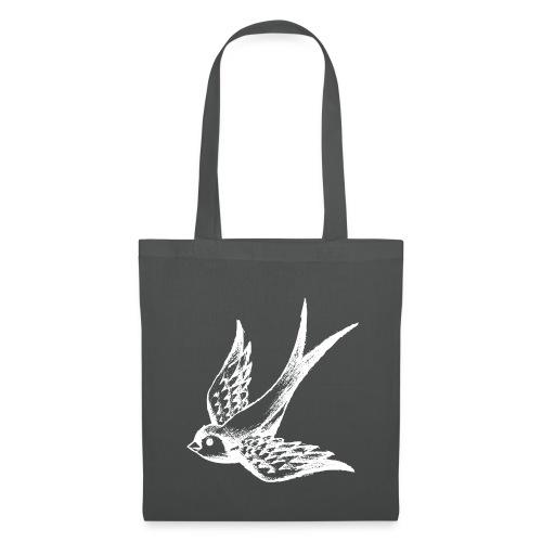 tier t-shirt schwalbe swallow vogel bird wings flügel retro - Stoffbeutel