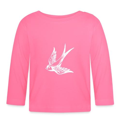 tier t-shirt schwalbe swallow vogel bird wings flügel retro - Baby Langarmshirt