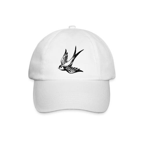 tier t-shirt schwalbe swallow vogel bird wings flügel retro - Baseballkappe