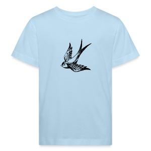 tier t-shirt schwalbe swallow vogel bird wings flügel retro - Kinder Bio-T-Shirt