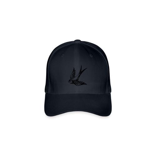 tier t-shirt schwalbe swallow vogel bird wings flügel retro - Flexfit Baseballkappe