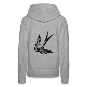 tier t-shirt schwalbe swallow vogel bird wings flügel retro - Frauen Premium Hoodie