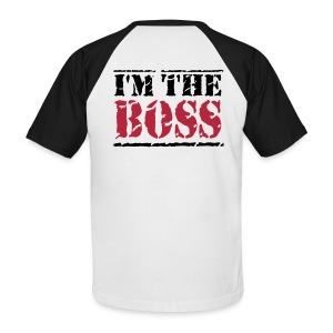 tee shirt homme i'm the boss - T-shirt baseball manches courtes Homme