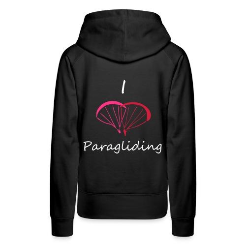 I Love Paragliding - Women's Premium Hoodie