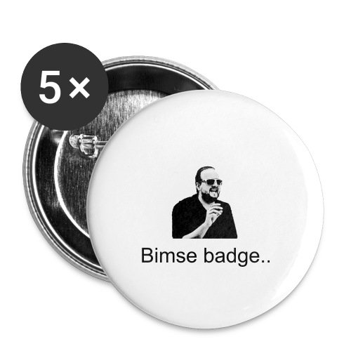 Jeppe-Citat t-shirt Er du bims?! - Buttons/Badges stor, 56 mm (5-pack)