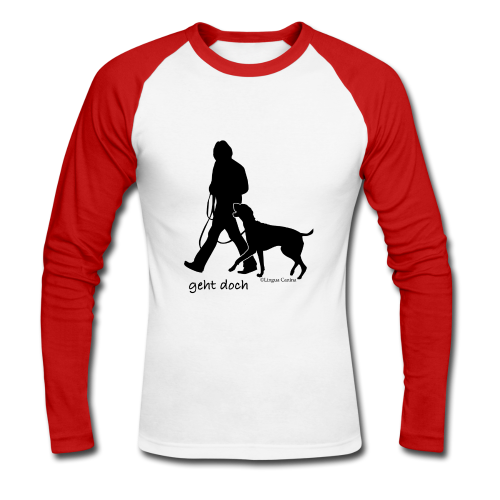 geht doch - Langarm Shirt, Herren - Männer Baseballshirt langarm