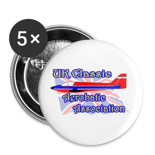 UKCAA Badges - Buttons medium 1.26/32 mm (5-pack)