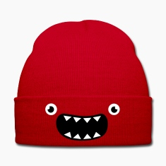 Funny Monster Face Caps & Hats