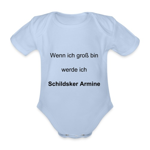 Baby Body Text b - Schildsker Arminen - Baby Bio-Kurzarm-Body