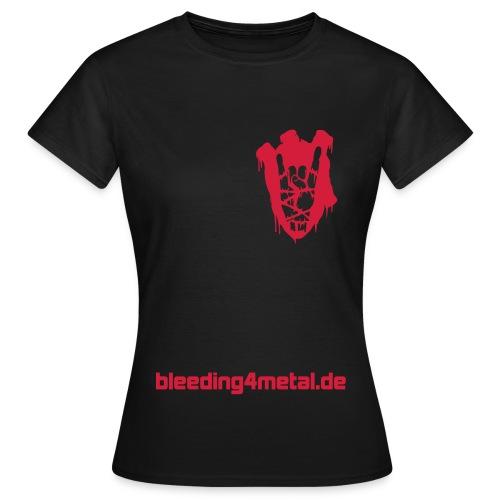 B4M-Shirt für Metal-Damen, schwarz - Frauen T-Shirt