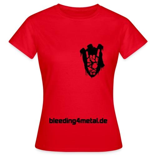 B4M-Shirt für Metal-Damen, rot - Frauen T-Shirt