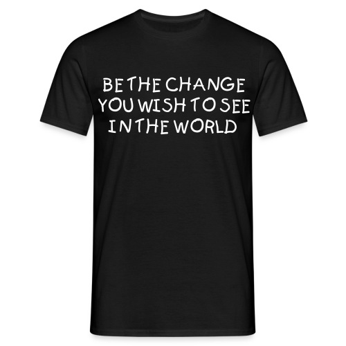 Be the change - T-skjorte for menn