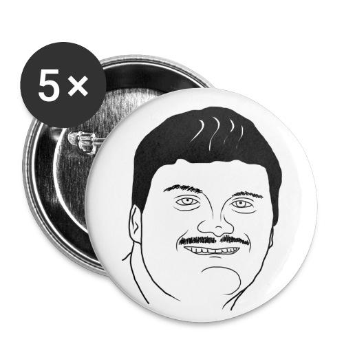 Lembit Larsson pins - Stora knappar 56 mm (5-pack)