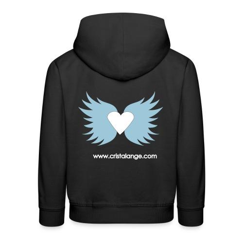 Sweatshirt Cristalange Coeur ailé  - Kids' Premium Hoodie