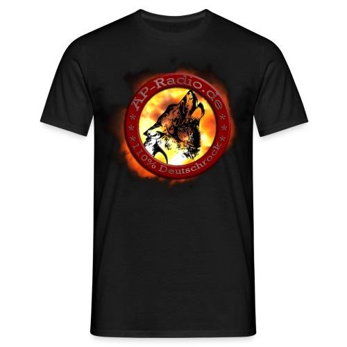 AP-Radio - 110% Deutschrock - Das Shirt mit großem Logo - Männer T-Shirt