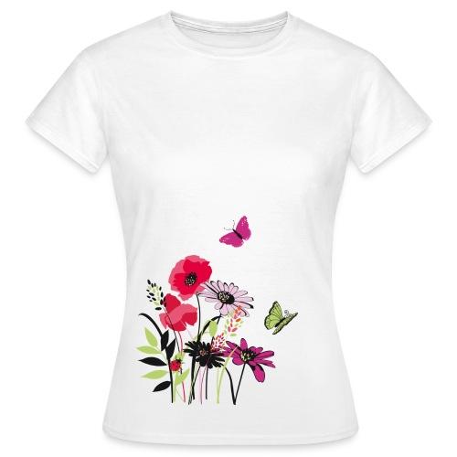 T-shirt fleurs et papillons - T-shirt Femme