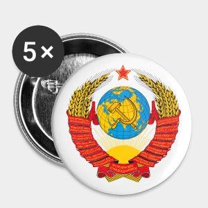 СССР Anstecker Ø 2,5cm (5 Stück) - Buttons klein 25 mm