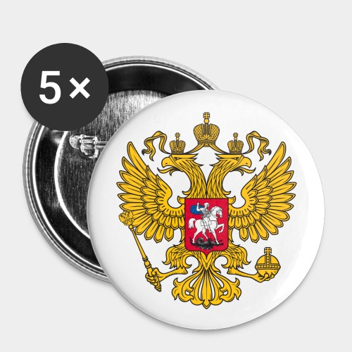 Rußland Anstecker Ø 2,5cm (5 Stück) - Buttons klein 25 mm