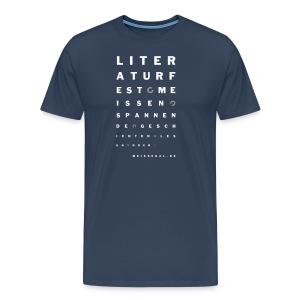 literaturfest-sehtest-shirt (blau-männlich) - Männer Premium T-Shirt