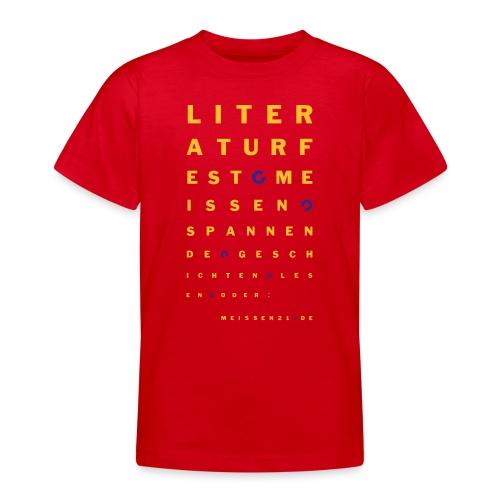 literaturfest-sehtest-shirt (teenager) - Teenager T-Shirt