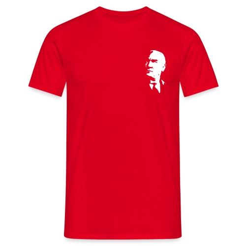 Atatürk T-Shirt Männer Rot - Männer T-Shirt