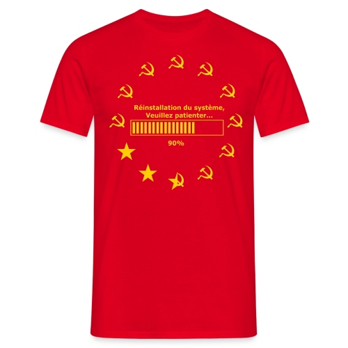 T-SHIRT standard homme réinitialisation faucille  - T-shirt Homme