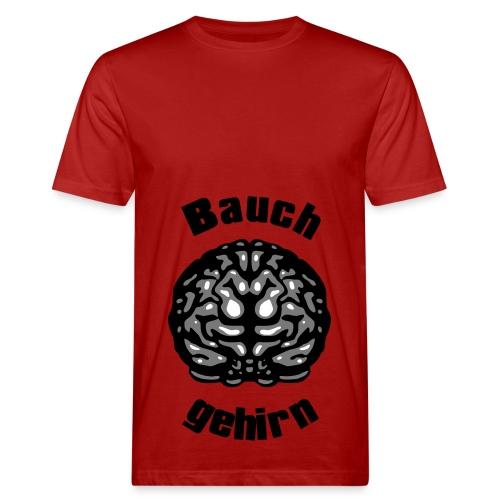 Bauchgehirn Flexdruck - Männer Bio-T-Shirt