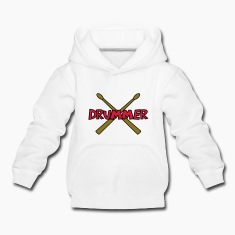 Drummer with crossed Drumsticks Hoodies