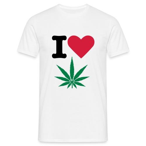 I LOVE WEED - Herre-T-shirt