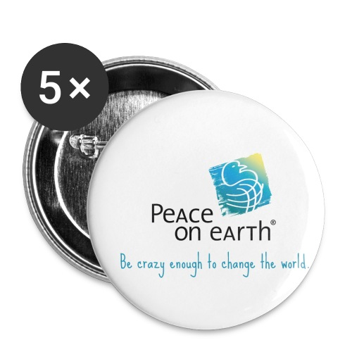 Peace on Earth Button - Buttons mittel 32 mm
