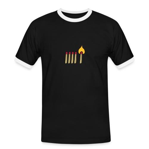 Streichholz Matchsticks Feuer Fire brennen burning - Männer Kontrast-T-Shirt