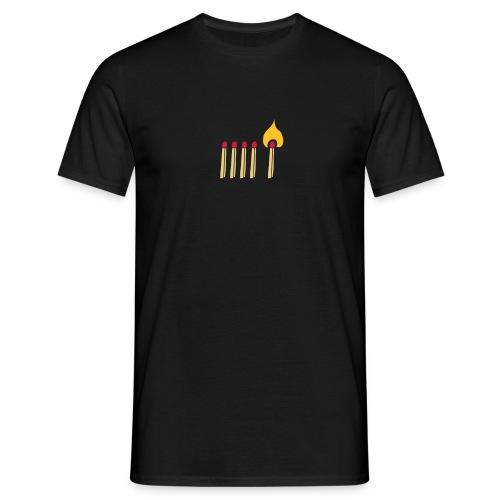 Streichholz Matchsticks Feuer Fire brennen burning - Männer T-Shirt